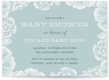 Handcut Florals Baby Shower Invitations