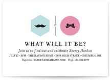 Mustache vs. Bow Baby Shower Invitations