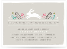 Bunny in the Forest Baby Shower Invitations