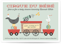 Cirque du Bebe Baby Shower Invitations