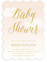 Soft Clouds Baby Shower Invitations