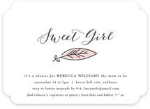 Sweet Leaf Baby Shower Invitations