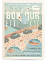Bonjour Baby Shower Invitations