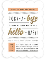 Rockabye and Hello Baby Shower Invitations