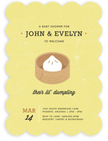 Lil' Dumpling Baby Shower Invitations