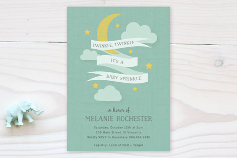Twinkle Sprinkle Baby Shower Invitations