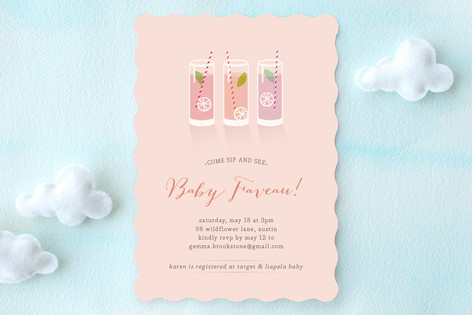 Lotsa Lemonade! Baby Shower Invitations