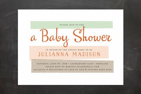 Retro Baby Baby Shower Invitations
