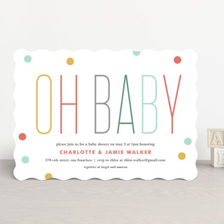 Oh Baby Confetti Baby Shower Invitations
