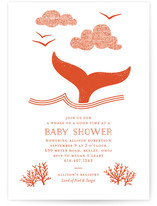 Whale Tail Baby Shower Invitations
