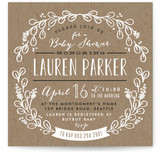 Kraft Circle Baby Shower Invitations