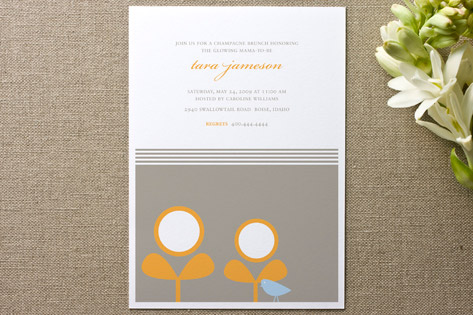Spring Sprouts & the Birdie Baby Shower Invitations