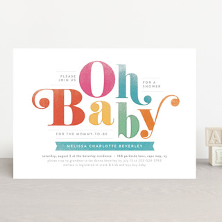 Oh Baby! Baby Shower Invitations