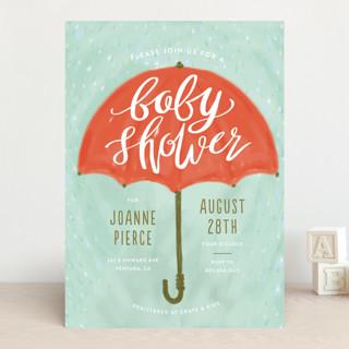 Painted Umbrella Baby Shower Invitations
