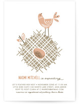 Mid Century Nest Baby Shower Invitations