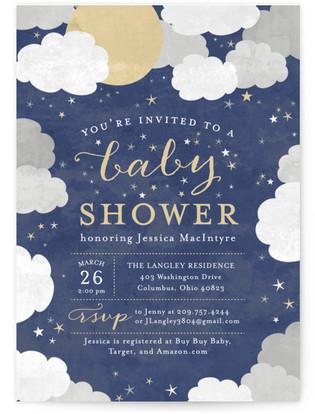 Under the Stars Baby Shower Invitations