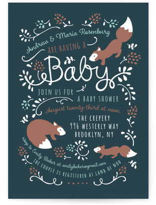 Little One Baby Shower Invitations