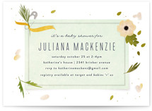 Petal Baby Shower Invitations