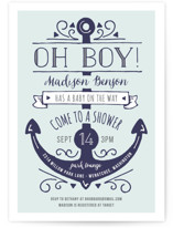 Oh Boy! Baby Shower Invitations