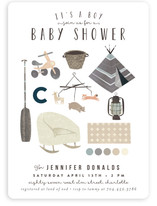 Baby Boy Moodboard Baby Shower Invitations