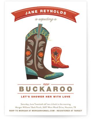 New Buckaroo Baby Shower Invitations