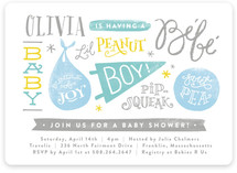 Baby Names Baby Shower Invitations