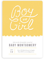 Reveal Baby Shower Invitations