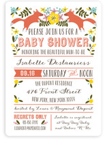 Les Renards Baby Shower Invitations