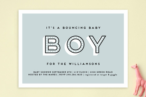 Bouncing Baby Boy Baby Shower Invitations