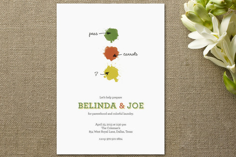 Colorful Laundry Baby Shower Invitations