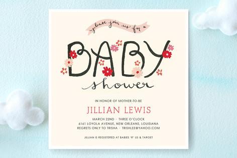 The Cheerful Baby Baby Shower Invitations
