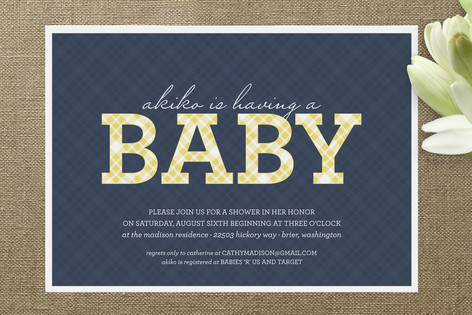 prep baby shower invitations by sarah brown minted