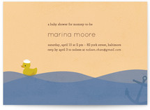 Ahoy Ducky Baby Shower Invitations