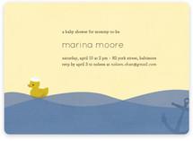 Ahoy Ducky Baby Shower Invitations