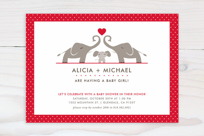 elephant family baby shower invitations by aspacia minted
