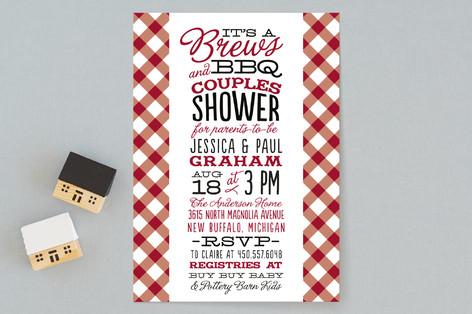 Baby Brews & BBQ Baby Shower Invitations