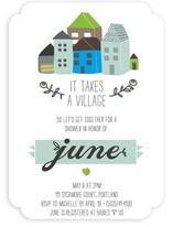 It Takes An Urban Village Baby Shower Invitations