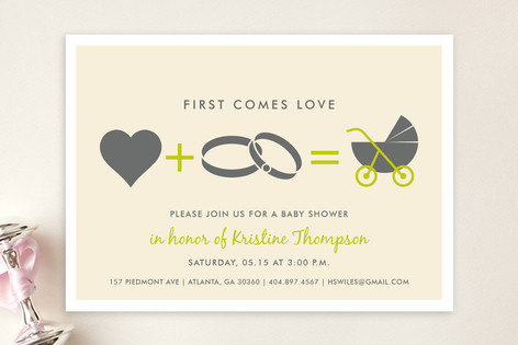 Love Equals Baby Shower Invitations