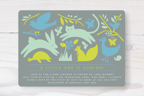 Prairie Tale Baby Shower Invitations