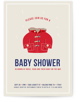 Baby Raincoat Baby Shower Invitations