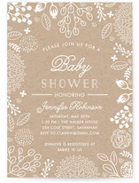 White on Kraft Baby Shower Invitations