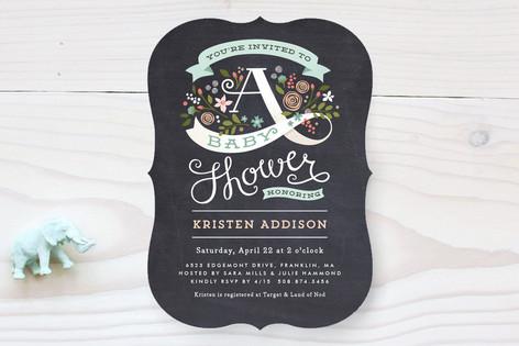 Banner Shower Baby Shower Invitations