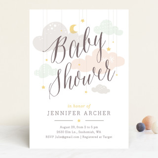 Shower Mobile Baby Shower Invitations