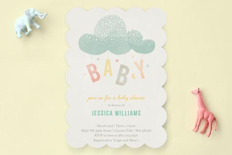 Cloud Charm Baby Shower Invitations