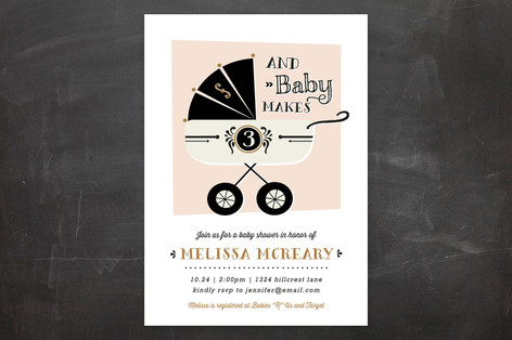 Three Baby Shower Invitations