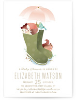 Fox In Boots Baby Shower Invitations