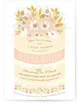 Beautiful Cake Baby Shower Invitations
