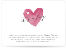 Watercolor Love Baby Shower Invitations