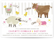 Barnyard Baby Shower Baby Shower Invitations