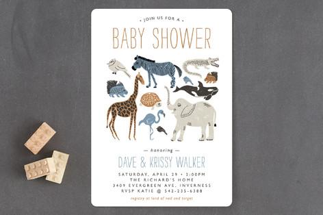 Wild Ride Baby Shower Invitations